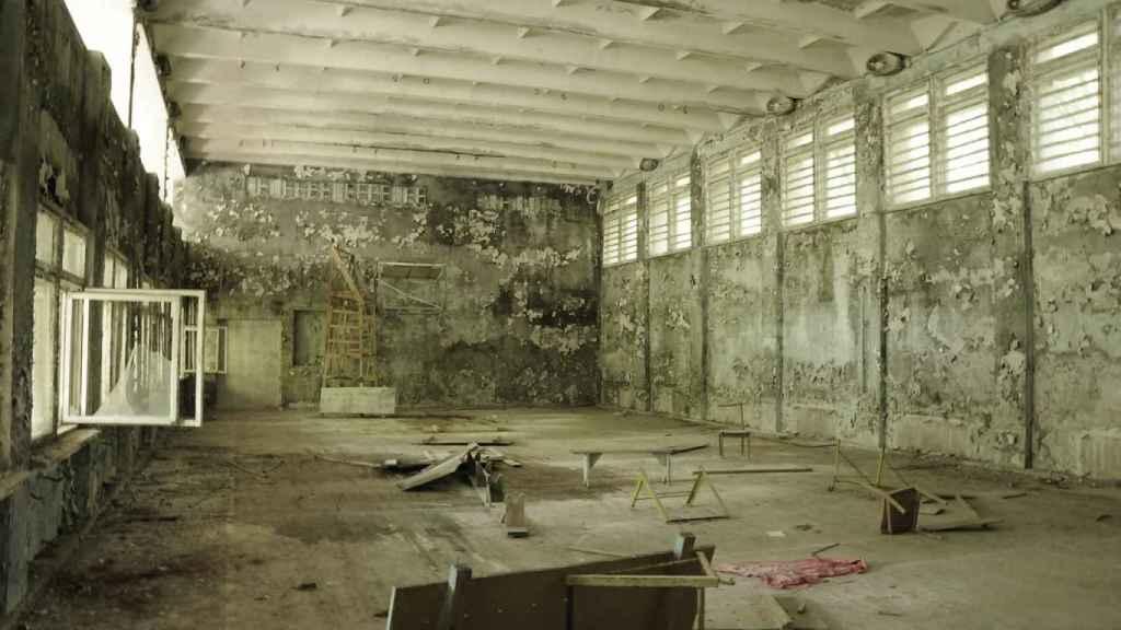 El gimnasio de una escuela en Prypiat
