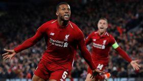 Wijnaldum en el Liverpool - Barcelona
