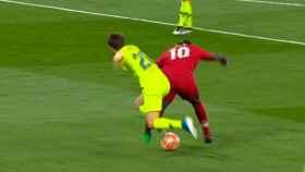 Penalti no pitado sobre el Liverpool