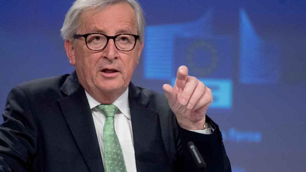 El presidente Jean-Claude Juncker, durante la rueda de prensa