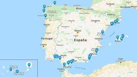 Estas son las 50 playas que han perdido la bandera azul este año