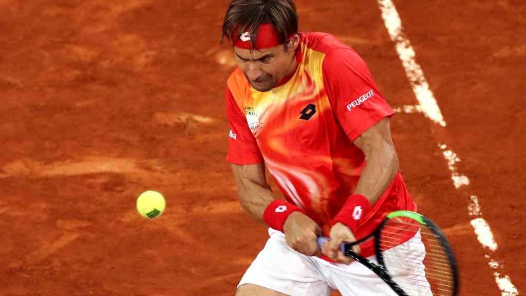 David Ferrer, en el Mutua Madrid Open 2019