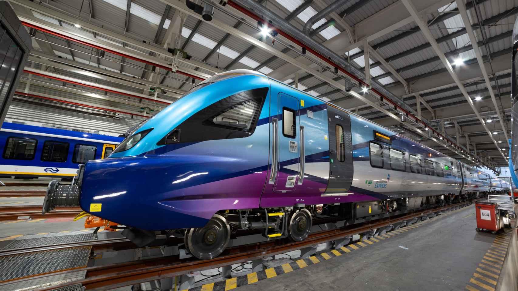 Un tren CAF.
