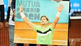 Homenaje a Ferrer tras su derrota en el Mutua Madrid Open