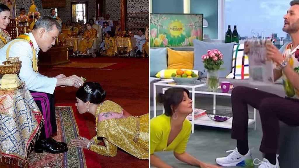 Imagen de la boda real tailandesa.