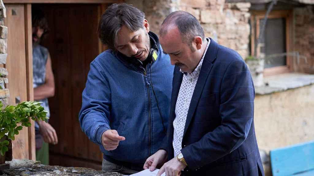 Alberto Caballero con Carlos Areces.