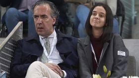 Jaime de Marichalar y Victoria Federica en el Masters de Tenis de Madrid.