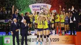 Imoco Volley, campeón de la liga italiana de voleibol Foto: Twitter (@ImocoVolley)
