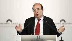 Miquel Iceta, este jueves en el Parlament.