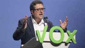 El presidente del grupo parlamentario de Vox, Francisco Serrano.