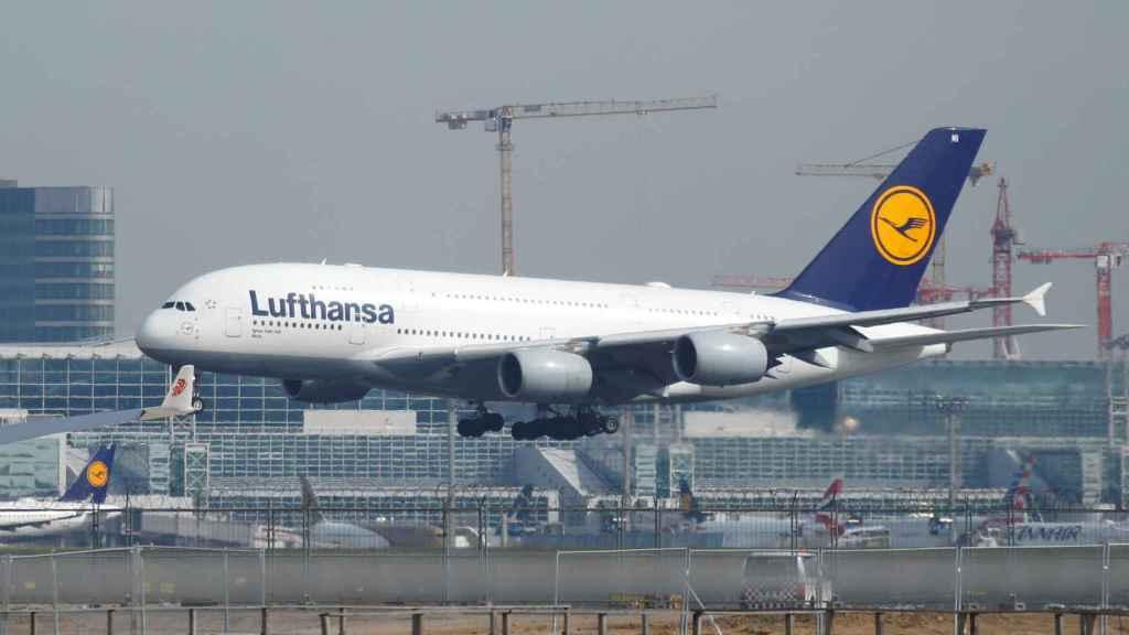 Un avión de Lufthansa en Frankfurt.