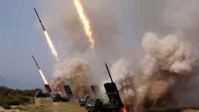 Los lanzamientos de Corea del Norte del pasado sábado.