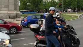Djokovic por las calles de Madrid en patinete. Foto: Instagram (@djokernole)