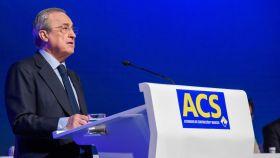Florentino Pérez, presidente de ACS, durante la junta general de accionistas de 2019.