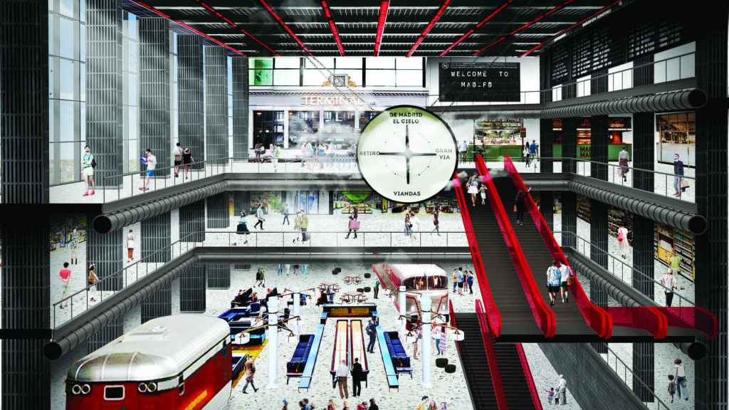Recreación de la estación de Atocha en Madrid Fashion District.