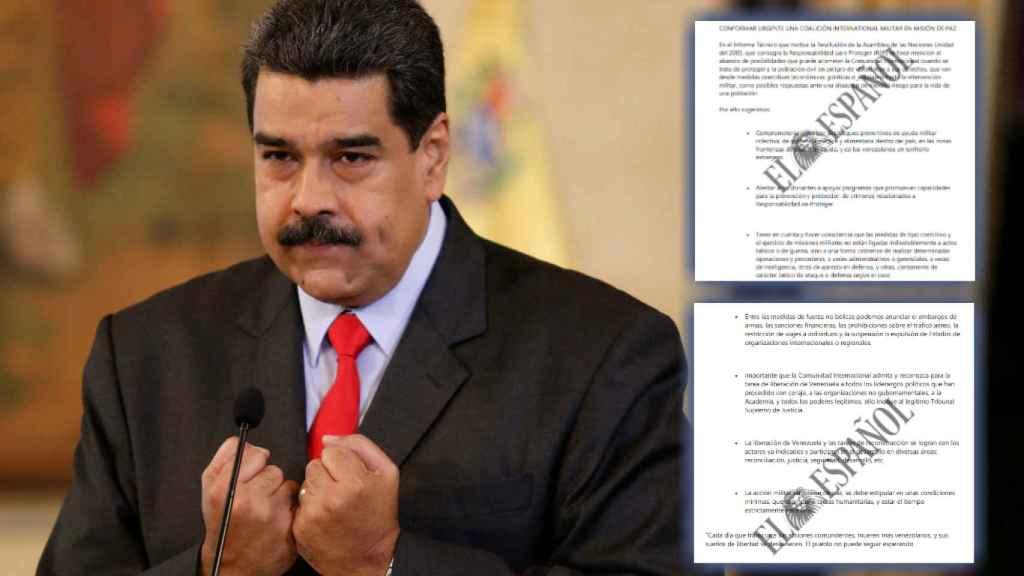 Nicolás Maduro, en una rueda de prensa en Caracas.
