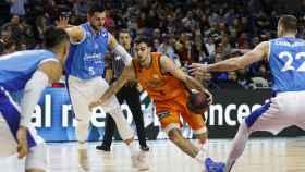 Partido de la primera vuelta entre el Movistar estudiantes y el Valencia Basket