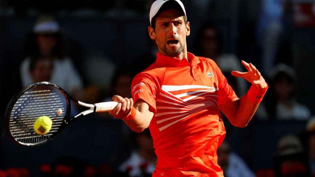 Djokovic en el partido contra Thiem
