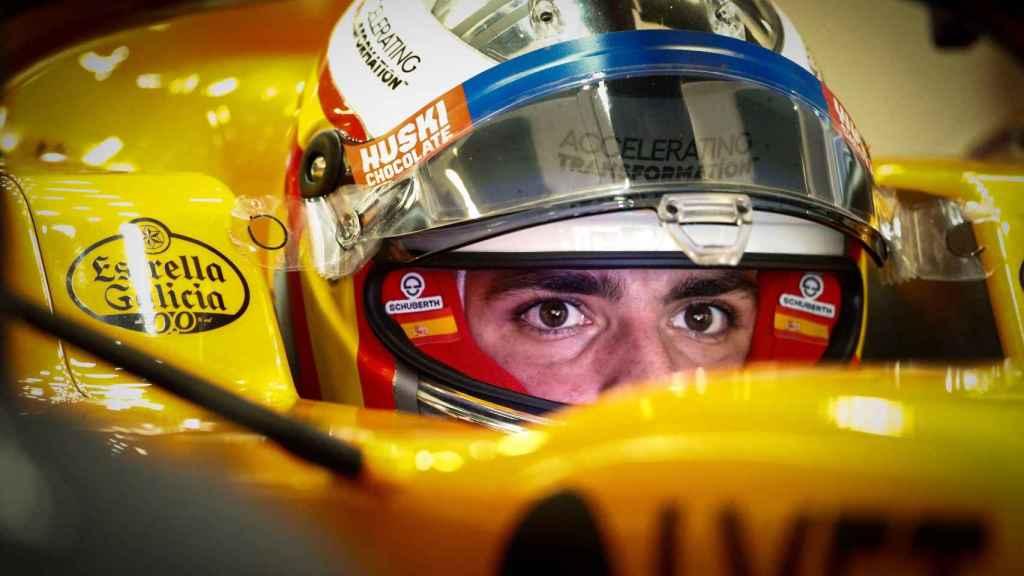 Carlos Sainz en los entrenamientos del GP de España
