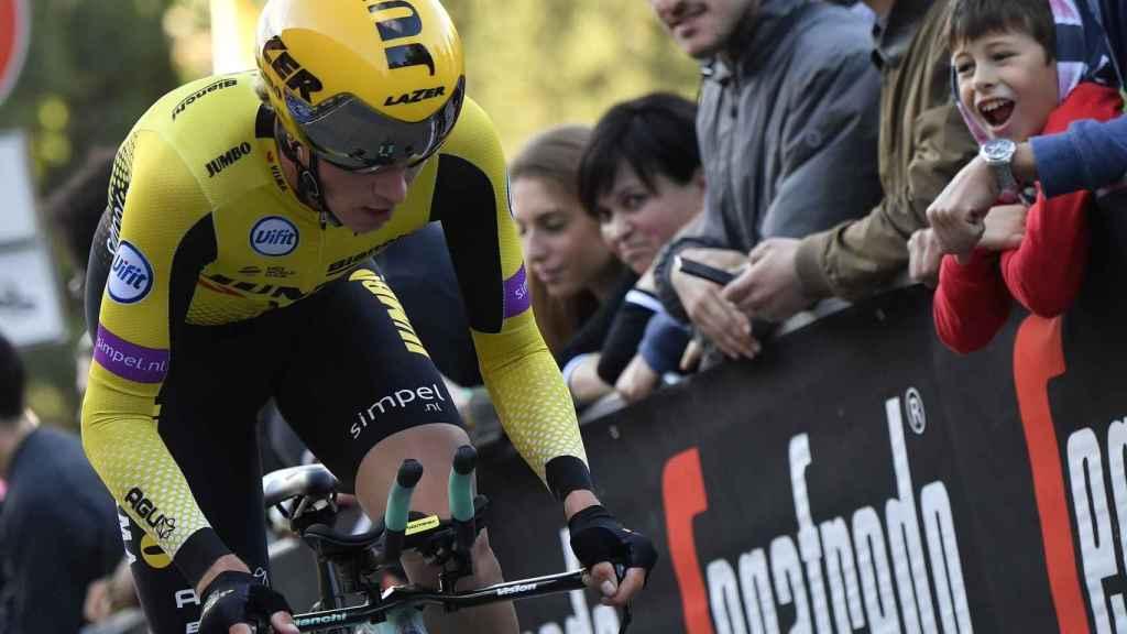 Primoz Roglic en el prólogo del Giro de Italia