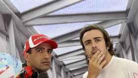 Marc Géne y Fernando Alonso.