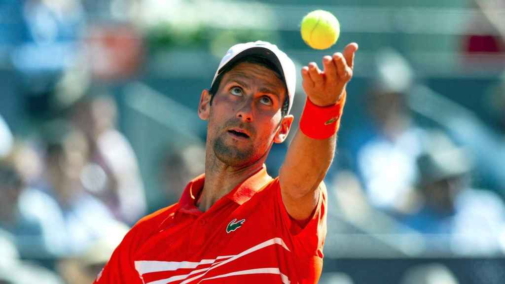 Novak Djokovic, en el Mutua Madrid Open 2019