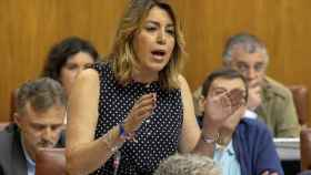 Díaz, en una imagen reciente en el Parlamento de Andalucía.