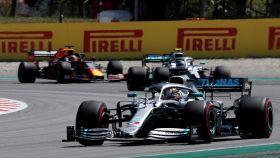 Hamilton, en el circuito de Montmeló