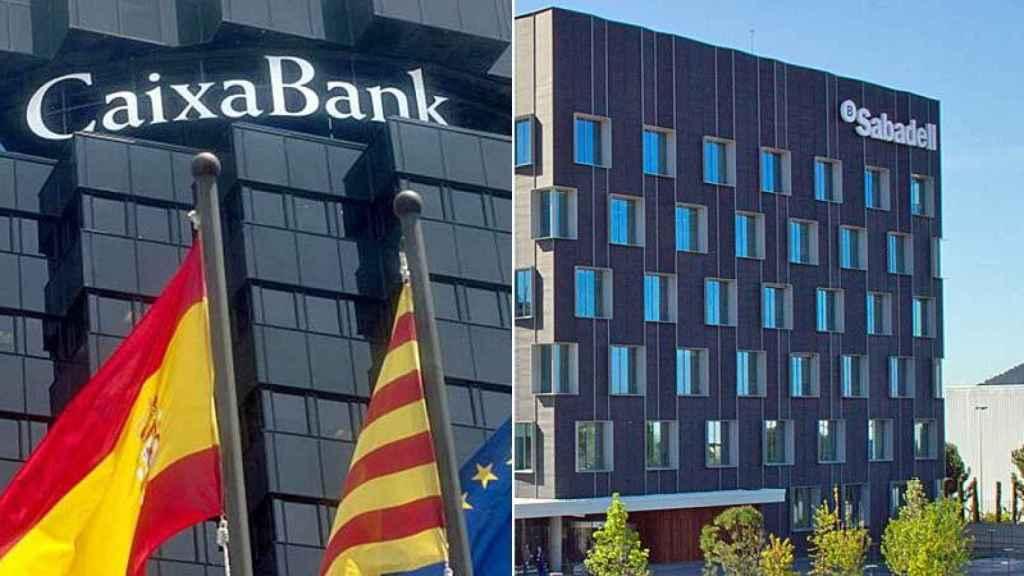 Imagen de Caixabank y Sabadell.