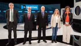 Las candidatos a las elecciones europeas de Cs, Vox, PSOE, Podemos y  PP, en el debate de La Sexta.