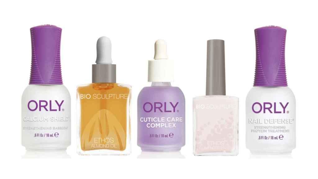 Algunos productos útiles para uñas quebradizas.