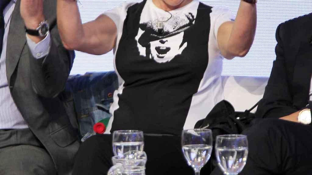 La presentadora durante una promoción de 'Gran Hermano' en 2012.