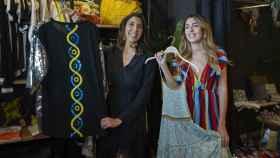 Paz Padilla y su hija, Anna, en la inauguración de la tienda No Ni Na.