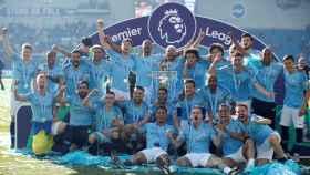 El Manchester City celebra su nueva Premier League