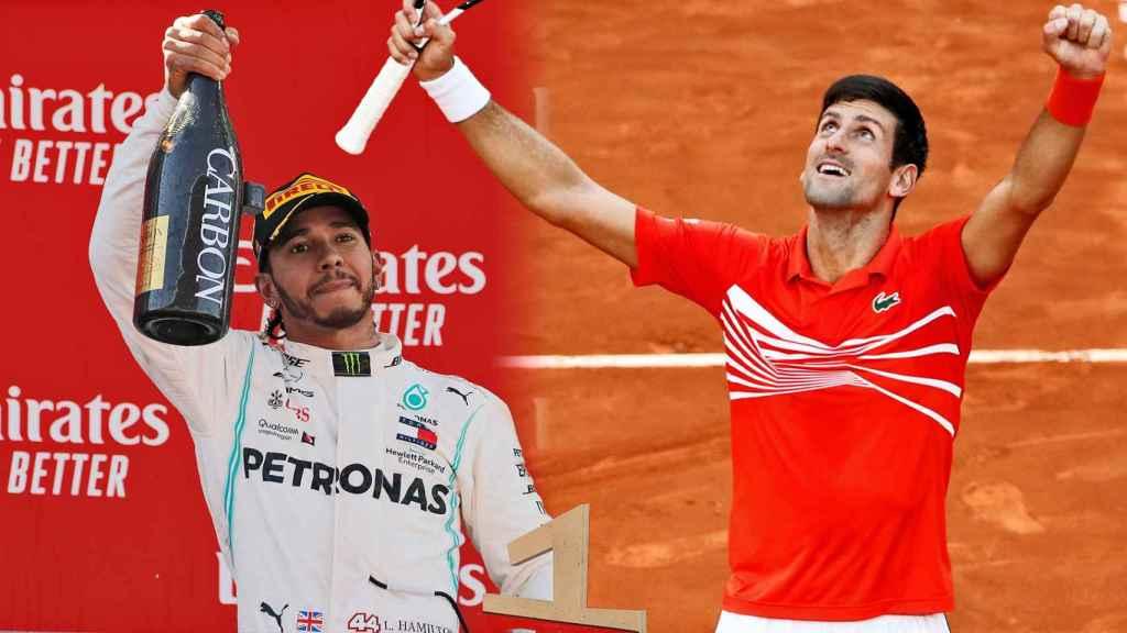 Lewis Hamilton y Novak Djokovic