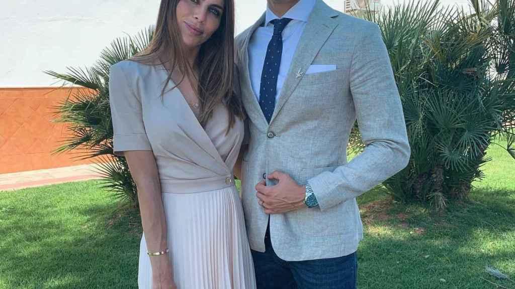 Marc Bartra y Melissa Jiménez en una imagen de redes sociales.