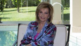 María Teresa Campos durante un encuentro mediático en su casa de Las Rozas.