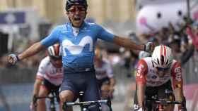 Carapaz, tras conquistar la cuarta etapa del Giro de Italia. Foto: ( Twitter @giroditalia)