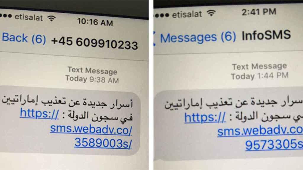 Mensajes fraudulentos con enlaces de descarga de Pegasus.