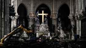 Primeras imágenes de Notre Dame un mes después del incendio