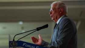 Borrell en un acto de campaña.