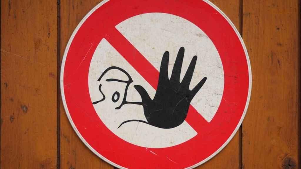stop prohibido senal