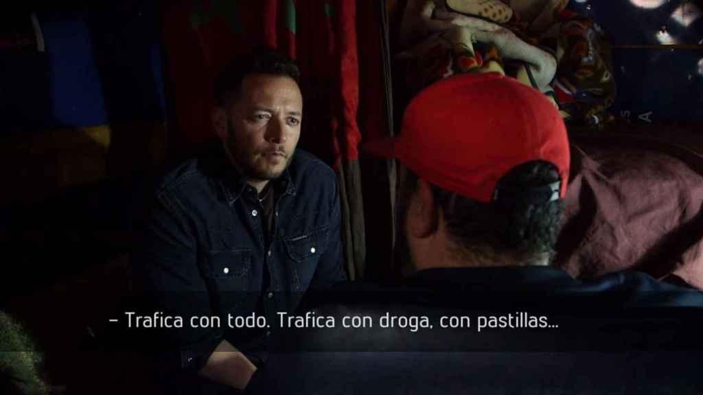 Imagen de la entrevista al Pablo Escobar marroquí en el programa En el Punto de Mira
