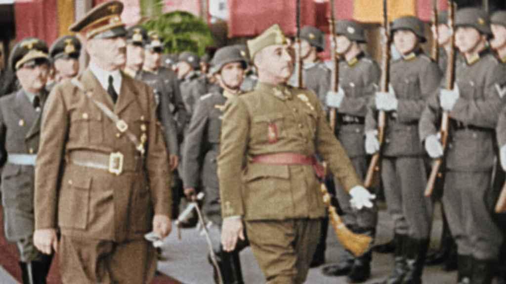 Hitler y Franco en Hendaya.