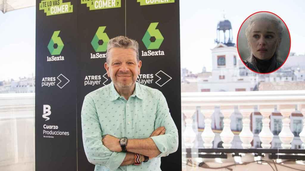 Alberto Chicote, en la terraza de su restaurante Puertalsol.