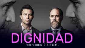 Cartel promocional de 'Dignidad', de Ignasi Vidal, en el Teatro Marquina de Madrid.