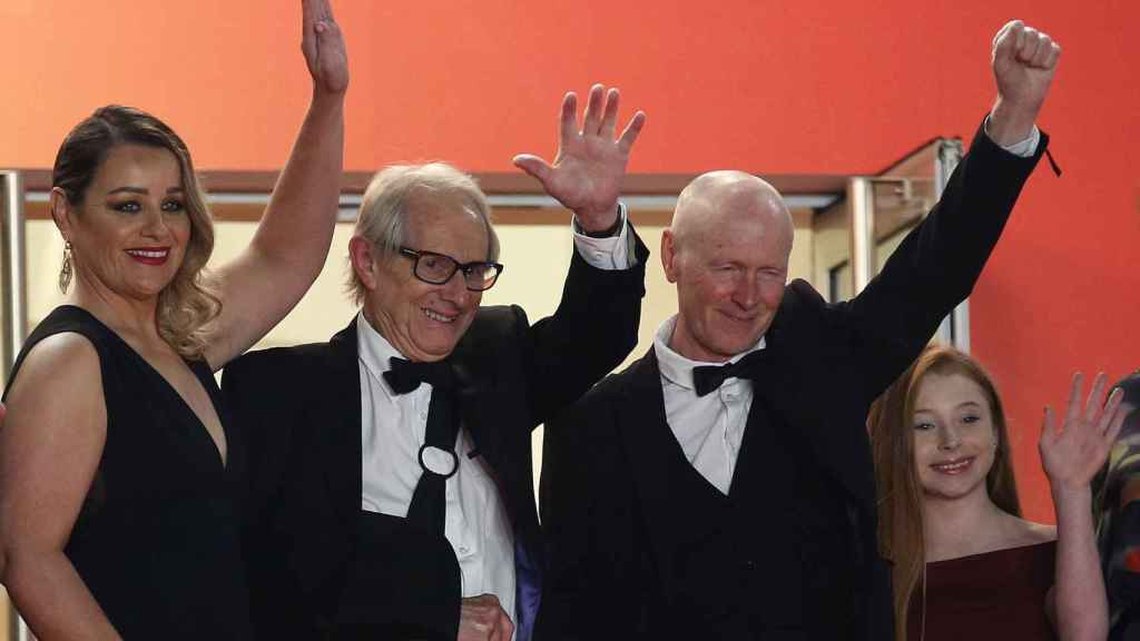 Ken Loach y Paul Laverty en Cannes.