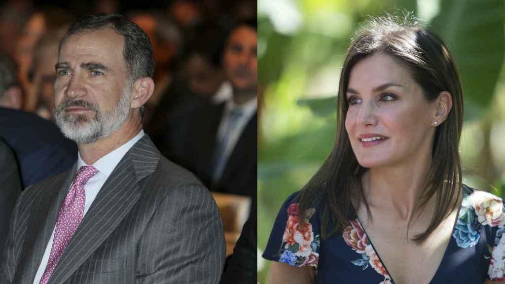 El rey Felipe en Madrid y la Reina en República Dominicana en su 14 aniversario de casados.