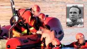 Un equipo de bomberos rescató al diestro Antonio Ferrera tras caer al río Guadiana el pasado martes.