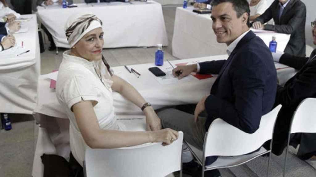 Pedro Sánchez y Magdalena Valerio, cuando ella todavía estaba superando un cáncer.